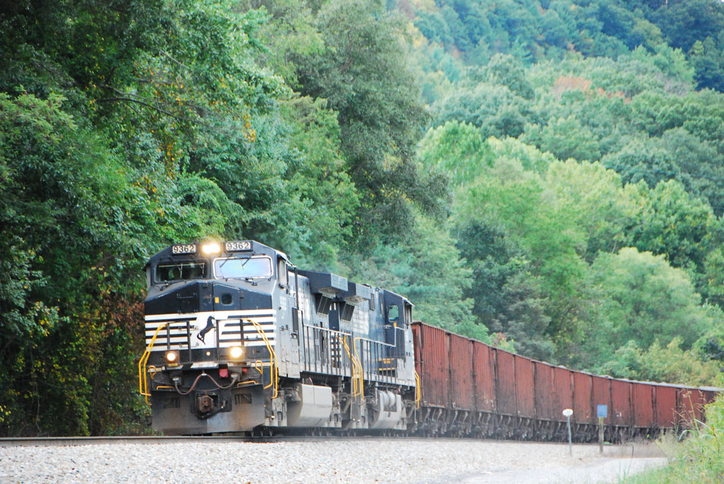 On the Southern loops, Norfolk Southern is a busy railroad ...