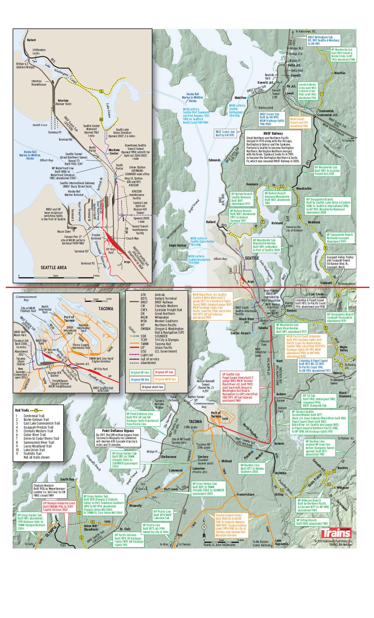 See Whats Inside Railroad Maps Trains Magazine Trains News - Bnsf railway us map