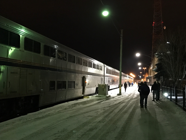Luck determination and another way out of cut bank part one our ill fated westbound empire builder pauses at havre mt four hours late on sunday evening feb 5 2017 photo by malcolm kenton sciox Choice Image