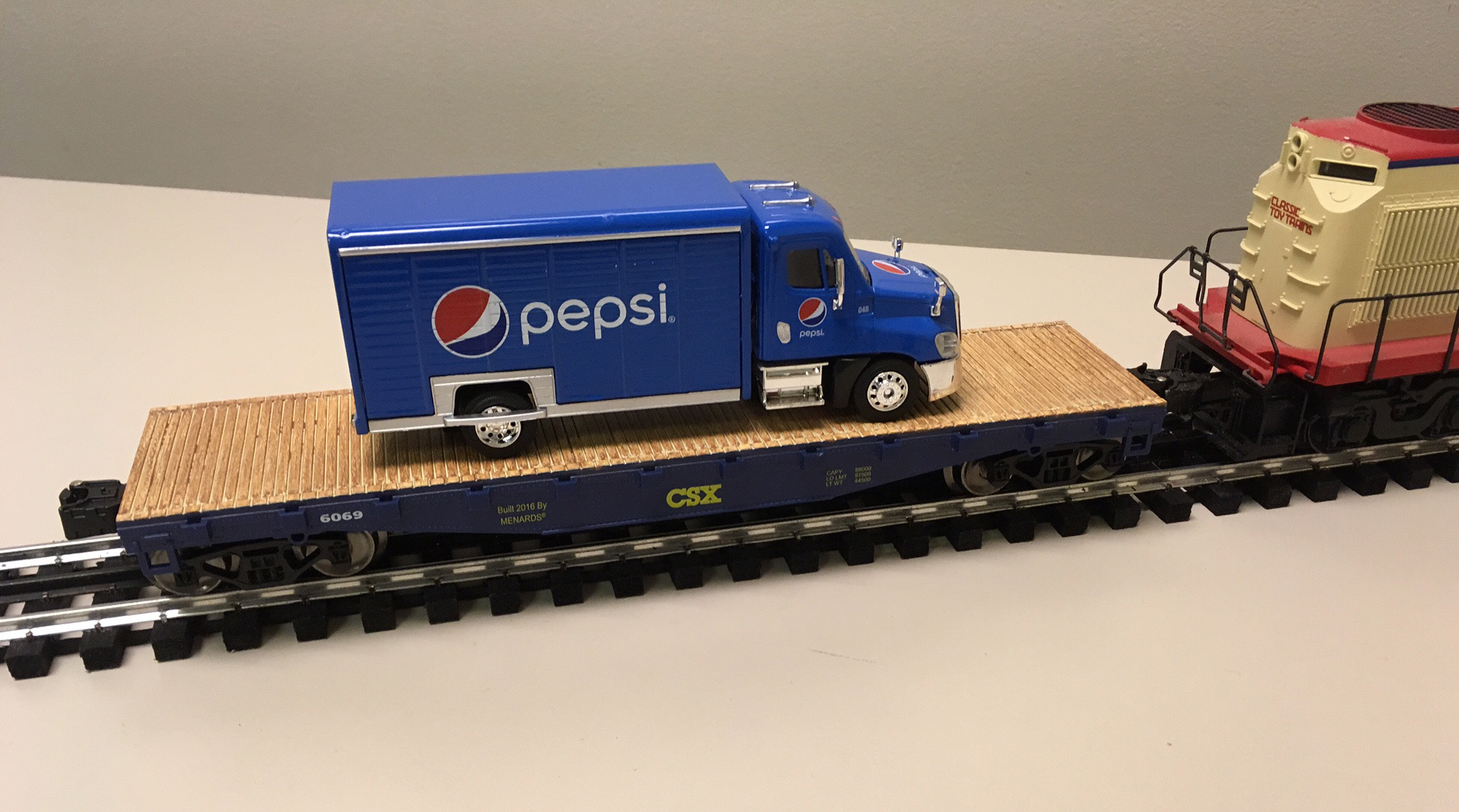 The New Flatcar With Pepsi Cola Delivery Truck Load From Menards - Does menards deliver