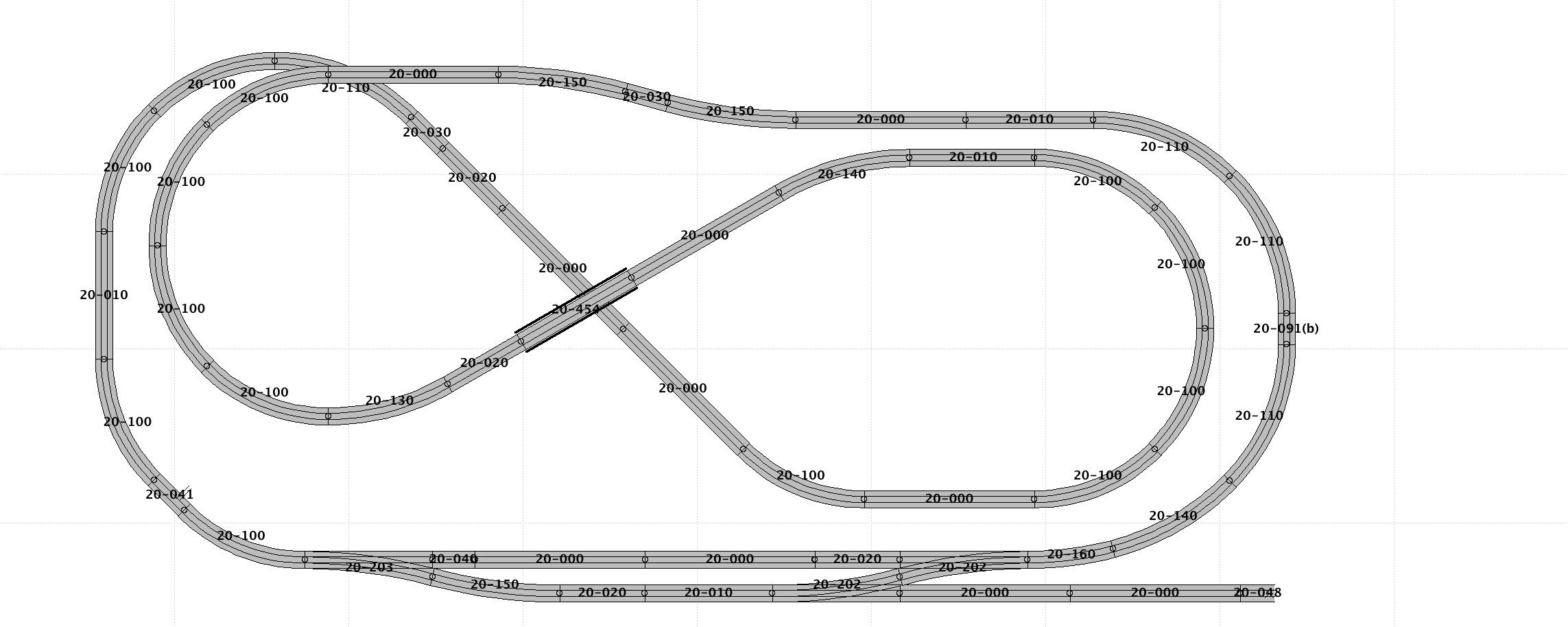 scenic ridge track plan