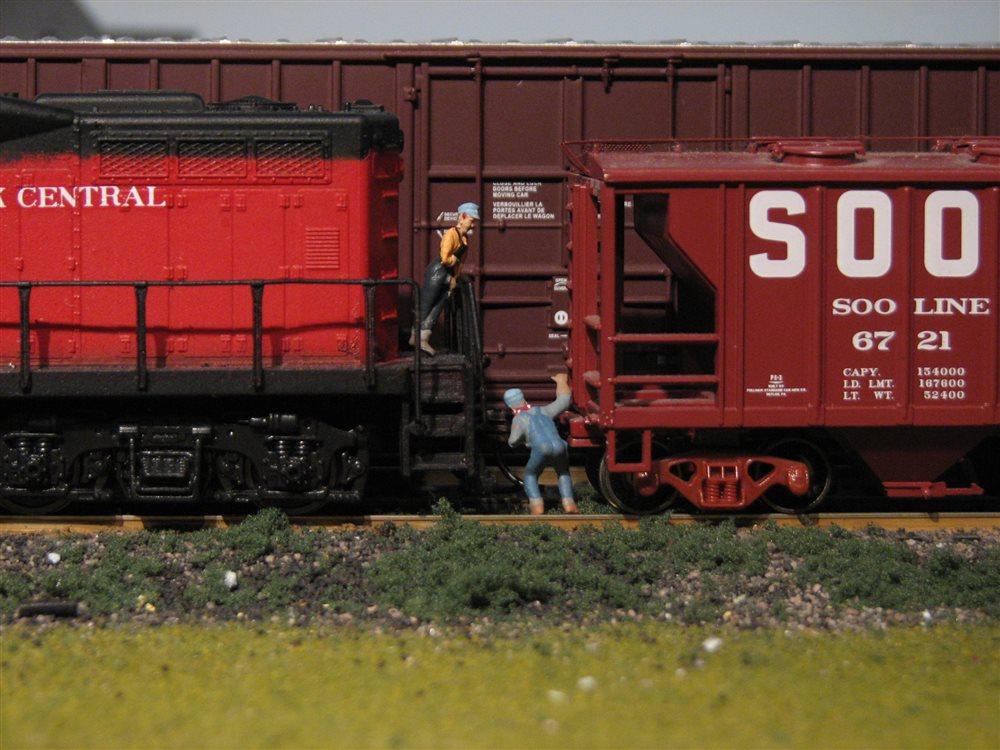 coupling the hoses  - Model Railroader Magazine - Model