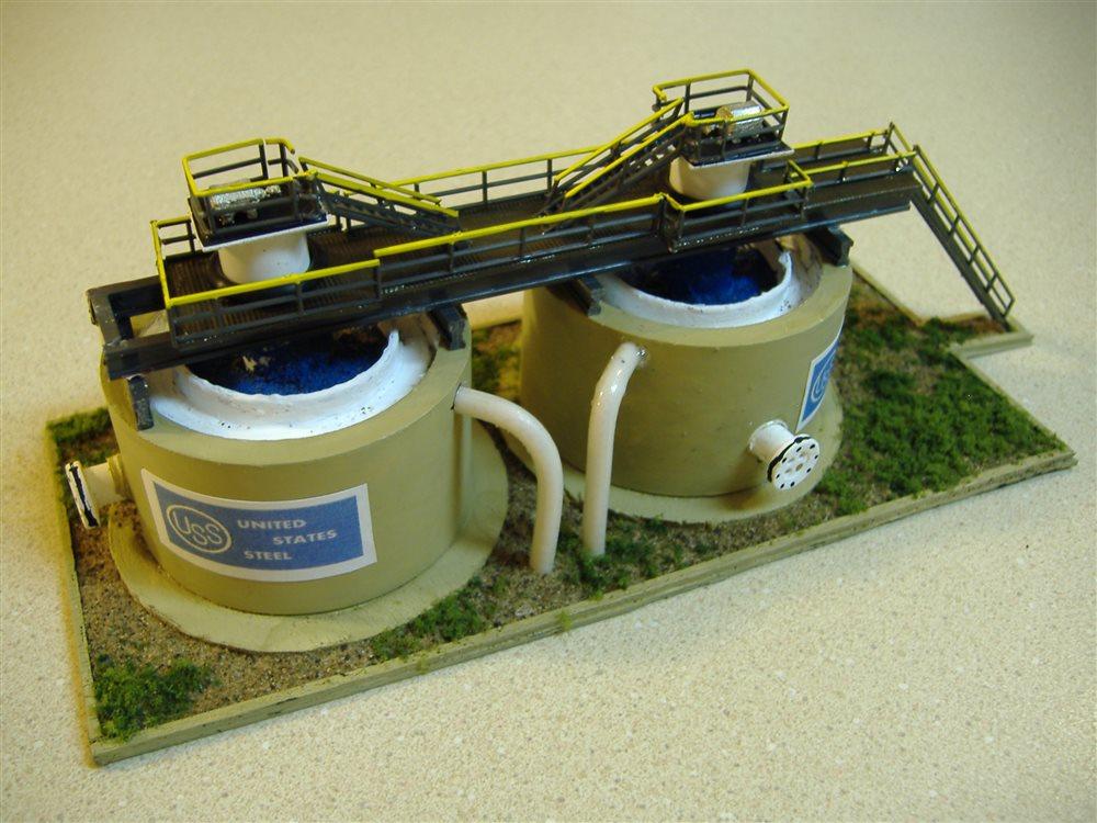 Steel Mill Water Clarifier Tanks Model Railroader
