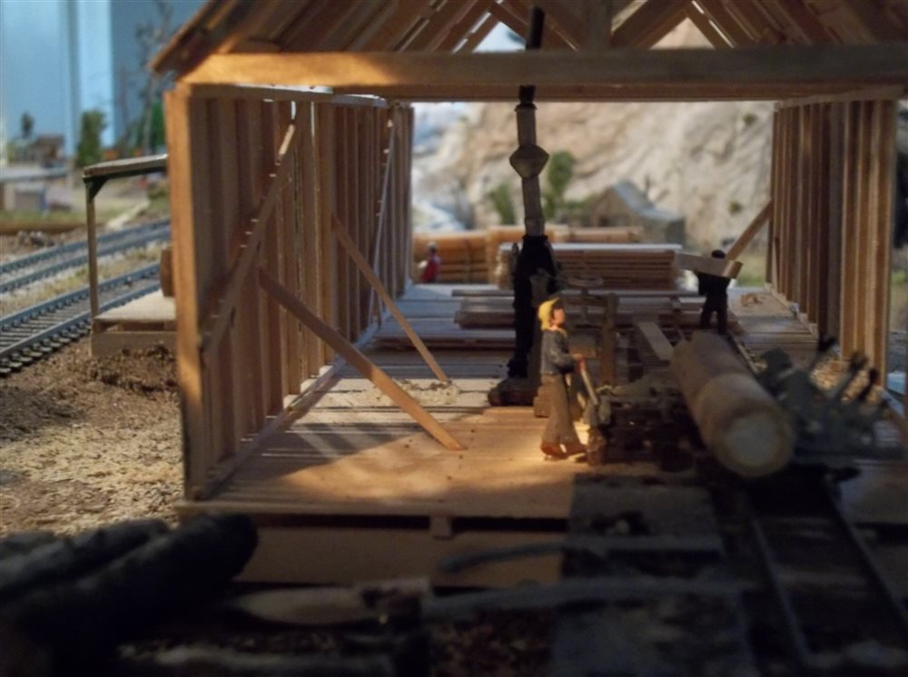 sawmill operation - model railroader magazine
